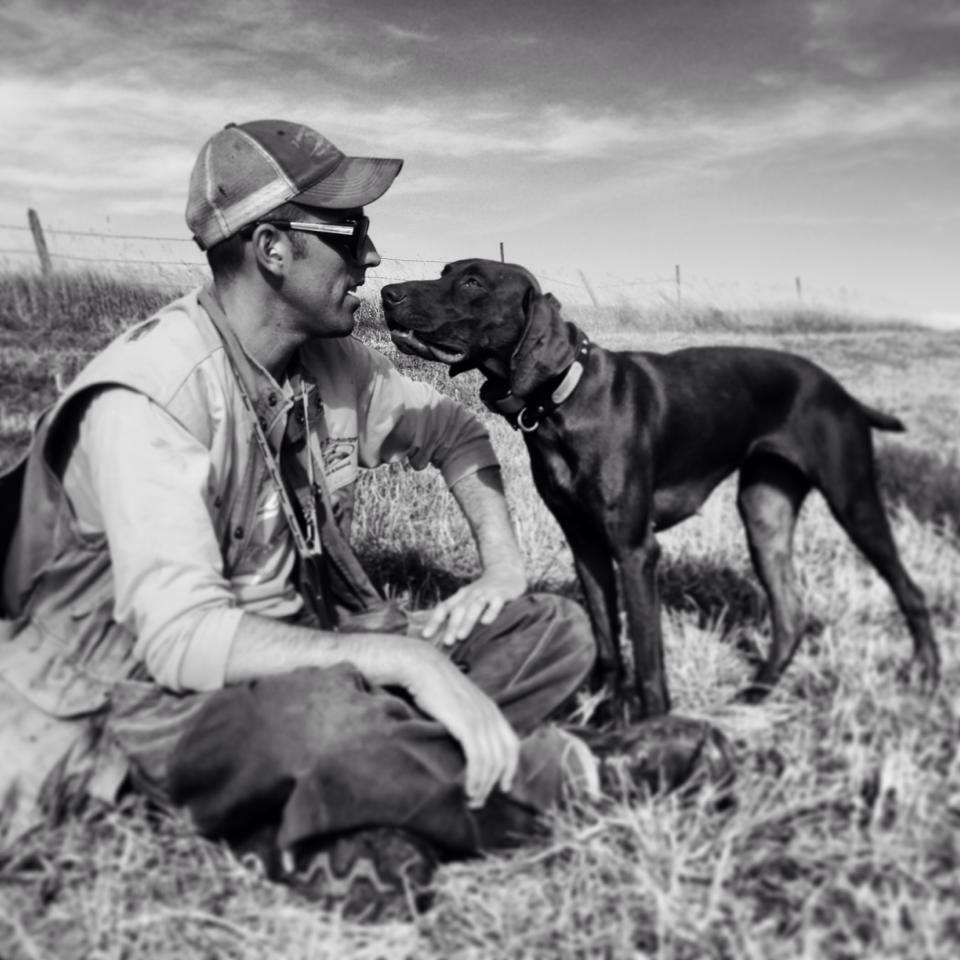 Aaron Schroder & his Germain Shorthair Pointer Charlie | Double A Outfitting & Gun Dogs