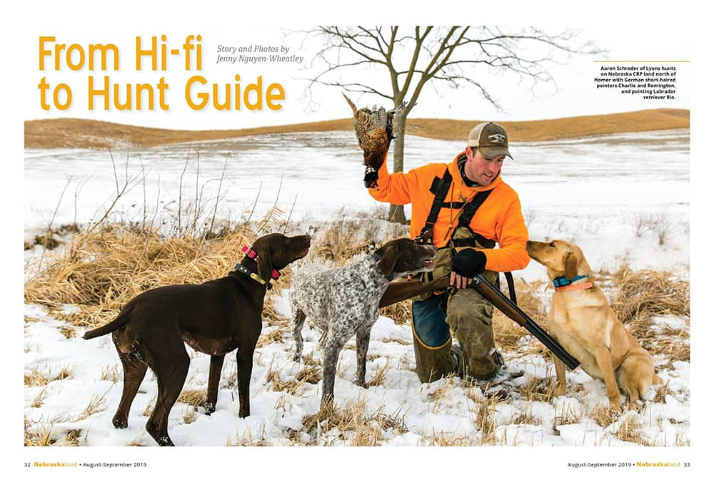 NebraskaLAND Magazine | Double A Outfitting & Gun Dogs